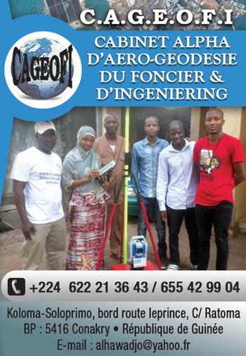 CAGEOFI (CABINET ALPHA D'AERO-GEODESIE DU FONCIER & D'INGENIERING)