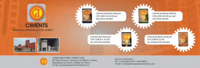 GI CIMENTS SARL (GUINEE INDUSTRIES CIMENTS)