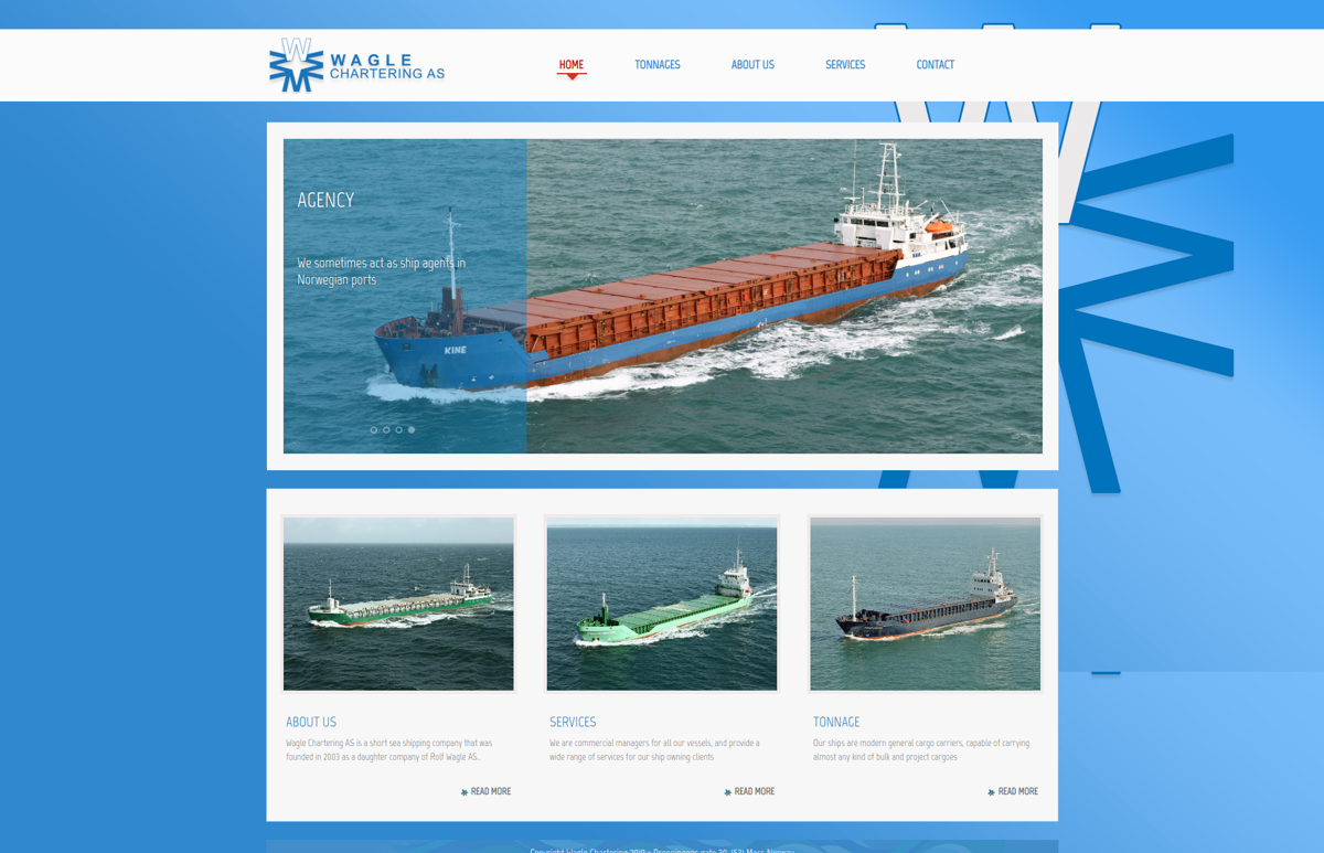 SITE WEB WAGLE CHARTERING